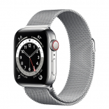 Умные часы Apple Watch Series 6 Silver Stainless Steel Case with Milanese Loop 44mm (Серебристый/серебристый)