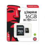 Карта памяти Kingston MicroSD Class 10 80MB/s 16Gb (с адаптером SD)