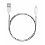 Металлический USB кабель Anchor Evercable Lightning MFi 2.4A OEM 1.2м (Серебристый)