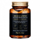 Сыворотка для лица Farm Stay 24K Gold and Peptide Solution Prime Ampoule 250 мл