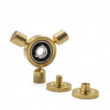 Brass Tri-Spinne Fidget Toy CNC Cut Si3N4 Bearing (M17112)