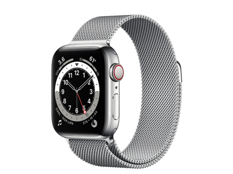 Умные часы Apple Watch Series 6 Silver Stainless Steel Case with Milanese Loop 40mm (Серебристый/серебристый) фото 1