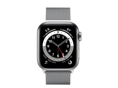 Умные часы Apple Watch Series 6 Silver Stainless Steel Case with Milanese Loop 40mm (Серебристый/серебристый) фото 2